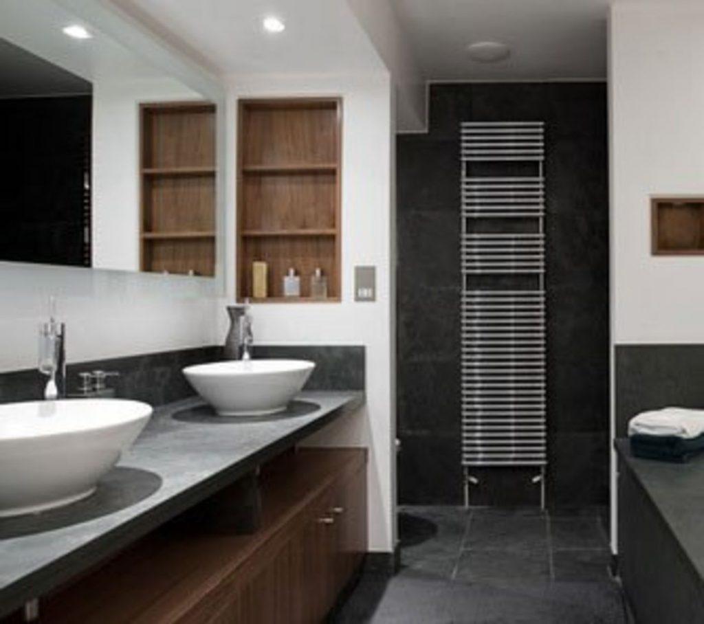 Mirror Behind Sinks