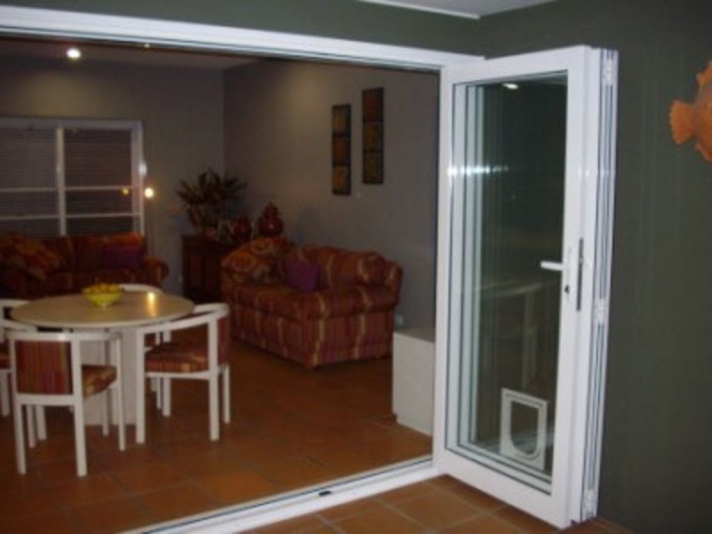 3 Leaf Bi Fold Doors Open and Stacked
