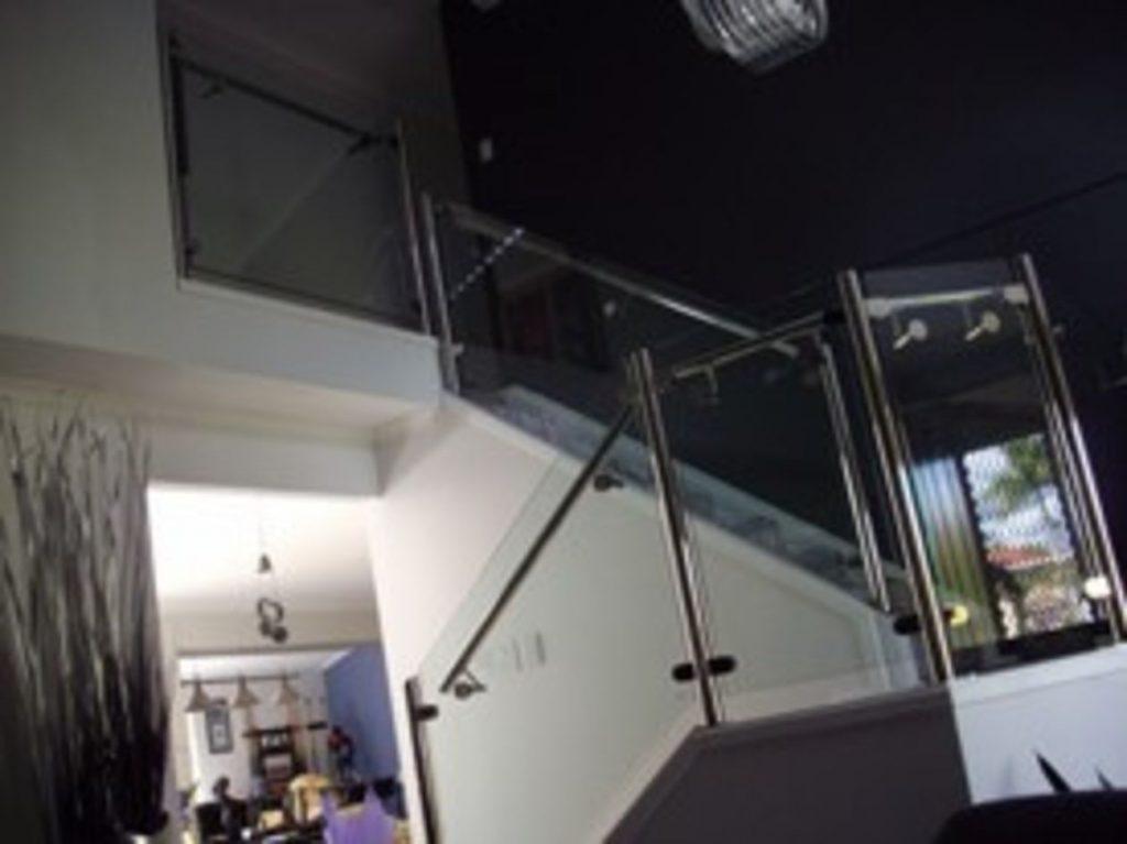 Staircase Semi Framed Glass Balustrade