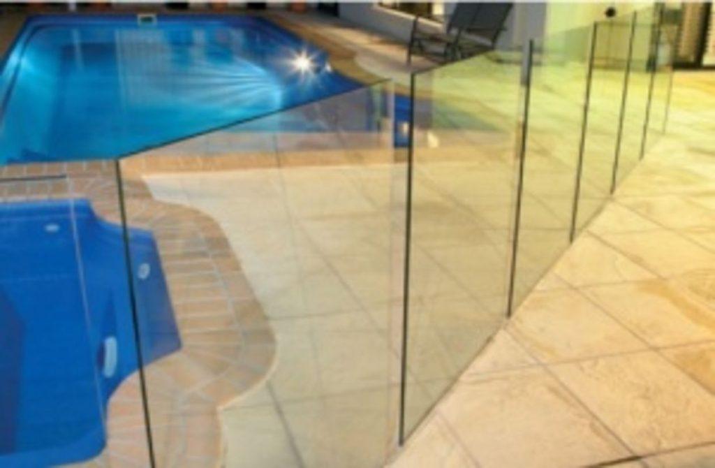 Frameless Glass on Concrete Flooring