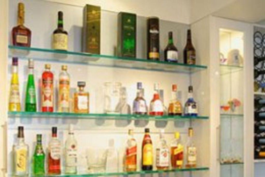 Glass Wine Shelves